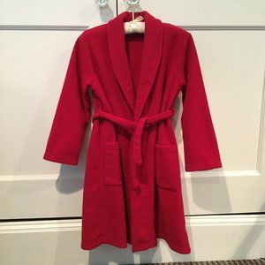 Lands' End Kids Red Fleece Bathrobe Size M 10